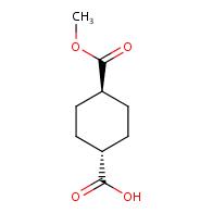 trans-1,4-cyclohexanedicarboxylic acid monomethyl ester