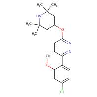 Pyridazine, 3-(4-chloro-2-methoxyphenyl)-6-[(2,2,6,6-tetramethyl-4-piperidinyl)oxy]-