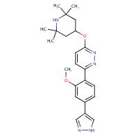 3-[2-methoxy-4-(1H-pyrazol-4-yl)phenyl]-6-(2,2,6,6-tetramethylpiperidin-4-yl)oxypyridazine