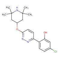 5-chloro-2-[6-(2,2,6,6-tetramethylpiperidin-4-yl)oxypyridazin-3-yl]phenol