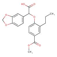 2-(Benzo[d][1,3]dioxol-5-yl)-2-(4-(methoxycarbonyl)-2-propylphenoxy)acetic acid