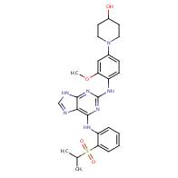 1-(4-((6-((2-(isopropylsulfonyl) phenyl)amino)-9H-purin-2-yl) amino)-3- methoxyphenyl) piperidin-4-ol