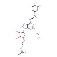 2-(((1S,2S,3S,4R)-4-(7-(((1R,2S)-2-(3,4-Difluorophenyl)cyclopropyl)amino)-5-(propylthio)-3H-[1,2,3]triazolo[4,5-d]pyrimidin-3-yl)-2,3-dihydroxycyclopentyl)oxy)ethyl acetate