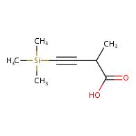 2-methyl-4-trimethylsilylbut-3-ynoic acid