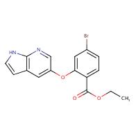 ethyl 4-bromo-2-{1H-pyrrolo[2,3-b]pyridin-5-yloxy}benzoate