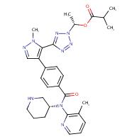 (1S)-1-[5-(1-Methyl-4-{4-[(3-methylpyridin-2-yl)[(3R)-piperidin-3-yl]carbamoyl]phenyl}-1H-pyrazol-5-yl)-2H-1,2,3,4-tetrazol-2-yl]ethyl 2-methylpropanoate