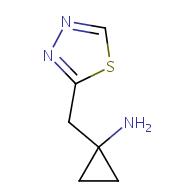 1-(1,3,4-thiadiazol-2-ylmethyl)cyclopropan-1-amine