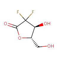 (4S,5S)-3,3-difluoro-4-hydroxy-5-(hydroxymethyl)oxolan-2-one