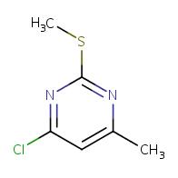 4-chloro-6-methyl-2-(methylthio)pyrimidine