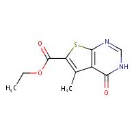 Ethyl 5-methyl-4-oxo-3,4-dihydrothieno[2,3-d]-pyrimidine-6-carboxylate