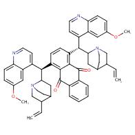 1,4-bis((1S)-(6-methoxyquinolin-4-yl)(5-vinylquinuclidin-2-yl)methyl)anthracene-9,10-dione