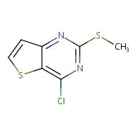 4-chloro-2-(methylthio)thieno[3,2-d]pyrimidine