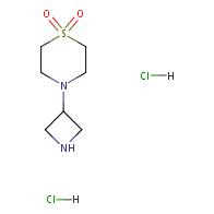 4-(azetidin-3-yl)thiomorpholine 1,1-dioxide dihydrochloride
