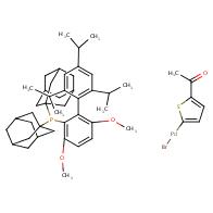 Bromo(5-acetyl-2-thienyl)[2-(di-1-adamantylphosphino)-3,6-dimethoxy-2
