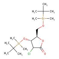 (4R,5R)-4-[(tert-butyldimethylsilyl)oxy]-5-{[(tert-butyldimethylsilyl)oxy]methyl}-3-chlorooxolan-2-one