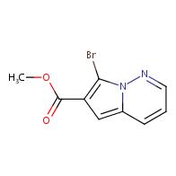 Pyrrolo[1,2-b]pyridazine-6-carboxylic acid, 7-bromo-, methyl ester