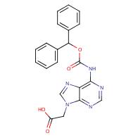 (6-BENZHYDRYLOXYCARBONYLAMINO-PURIN-9-YL)-ACETIC ACID