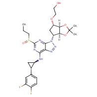 2-(((3aR,4S,6R,6aS)-6-(7-(((1R,2S)-2-(3,4-difluorophenyl)cyclopropyl)amino)-5-(propylsulfinyl)-3H-[1,2,3]triazolo[4,5-d]pyrimidin-3-yl)-2,2-dimethyltetrahydro-4H-cyclopenta[d][1,3]dioxol-4-yl)oxy)ethan-1-ol