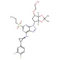2-(((3aR,4S,6R,6aS)-6-(7-(((1R,2S)-2-(3,4-difluorophenyl)cyclopropyl)amino)-5-(propylsulfonyl)-3H-[1,2,3]triazolo[4,5-d]pyrimidin-3-yl)-2,2-dimethyltetrahydro-4H-cyclopenta[d][1,3]dioxol-4-yl)oxy)ethan-1-ol