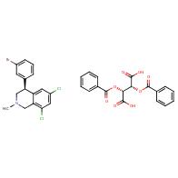 (2R,3R)-2,3-bis(benzoyloxy)butanedioic acid, (4S)-4-(3-bromophenyl)-6,8-dichloro-2-methyl-1,2,3,4-tetrahydroisoquinoline