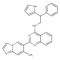 2-(7-Methylimidazo[1,2-a]pyridin-6-yl)-N-(2-phenyl-2-(1H- pyrrol-2-yl)ethyl)quinazolin-4-amine