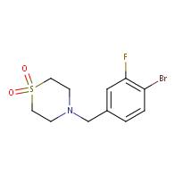 4-(4-bromo-3-fluorobenzyl)thiomorpholine 1,1-dioxide