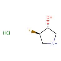 trans-4-fluoro-3-hydroxypyrrolidine hydrochloride