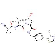(2S,4R)-1-((S)-2-(1-Cyanocyclopropanecarboxamido)-3,3-dimethylbutanoyl)-4-hydroxy-N-(4-(4-methylthiazol-5-yl)benzyl)pyrrolidine-2-carboxamide