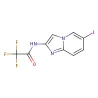 2,2,2-trifluoro-N-{6-iodoimidazo[1,2-a]pyridin-2-yl}acetamide