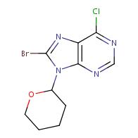 8-bromo-6-chloro-9-(oxan-2-yl)-9H-purine