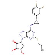 (1S,2R,3S,4R)-4-[7-[[(1R,2S)-2-(3,4-difluorophenyl)cyclopropyl]amino]-5-propylsulfanyltriazolo[4,5-d]pyrimidin-3-yl]cyclopentane-1,2,3-triol