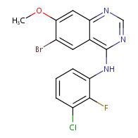 4-Quinazolinamine, 6-bromo-N-(3-chloro-2-fluorophenyl)-7-methoxy-