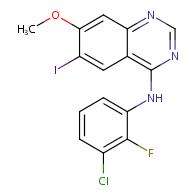 4-Quinazolinamine, N-(3-chloro-2-fluorophenyl)-6-iodo-7-methoxy-