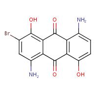 4,8-diamino-2-bromo-1,5-dihydroxyanthracene-9,10-dione