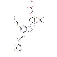 methyl 2-(((3aR,4S,6R,6aS)-6-(7-(((1R,2S)-2-(3,4-difluorophenyl)cyclopropyl)amino)-5-(propylthio)-3H-[1,2,3]triazolo[4,5-d]pyrimidin-3-yl)-2,2-dimethyltetrahydro-4H-cyclopenta[d][1,3]dioxol-4-yl)oxy)acetate