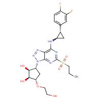 (1S,2S,3R,5S)-3-(7-(((1R,2S)-2-(3,4-difluorophenyl)cyclopropyl)amino)-5-(propylsulfonyl)-3H-[1,2,3]triazolo[4,5-d]pyrimidin-3-yl)-5-(2-hydroxyethoxy)cyclopentane-1,2-diol