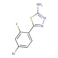 5-(4-Bromo-2-fluorophenyl)-1,3,4-thiadiazol-2-amine