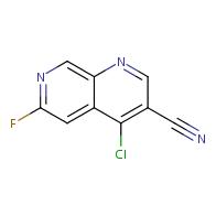 4-chloro-6-fluoro-1,7-naphthyridine-3-carbonitrile