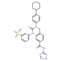 4-[1-(4-Cyclohexylphenyl)-3-(3-methanesulfonylphenyl)ureidomethyl]-N-(2H-tetrazol-5-yl)benzamide