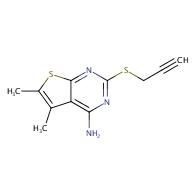 5,6-Dimethyl-2-(prop-2-yn-1-ylthio)thieno[2,3-d]pyrimidin-4-amine