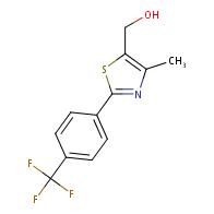 (4-Methyl-2-[4-(trifluoromethyl)phenyl]-1,3-thiazol-5-yl)methanol