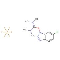 1-[bis(dimethylamino)methylidene]-5-chloro-3-oxo-1H-1λ⁵,2,3λ⁵-benzotriazol-1-ylium hexafluoro-λ⁵-phosphanuide