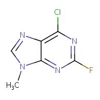 6-chloro-2-fluoro-9-methyl-9H-purine