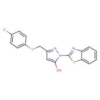 1-(1,3-benzothiazol-2-yl)-3-{[(4-chlorophenyl)thio]methyl}-1H-pyrazol-5-ol