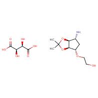 (2R,3R)-2,3-dihydroxybutanedioic acid 2-{[(3aR,4S,6R,6aS)-6-amino-2,2-dimethyl-hexahydrocyclopenta[d][1,3]dioxol-4-yl]oxy}ethan-1-ol