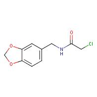 N-(1,3-benzodioxol-5-ylmethyl)-2-chloroacetamide