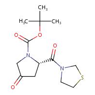 tert-butyl (S)-4-oxo-2-(thiazolidine-3-carbonyl)pyrrolidine-1-carboxylate