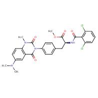 Methyl (2S)-2-[(2,6-dichlorobenzoyl)amino]-3-[4-[6- (dimethylamino)-1-methyl-2,4-dioxoquinazolin-3- yl]phenyl]propanoate
