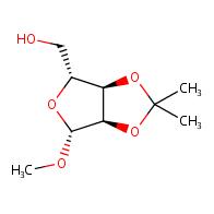 b-D-Ribofuranoside, methyl2,3-O-(1-methylethylidene)-