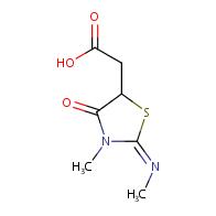 (E)-2-(3-methyl-2-(methylimino)-4-oxothiazolidin-5-yl)acetic acid